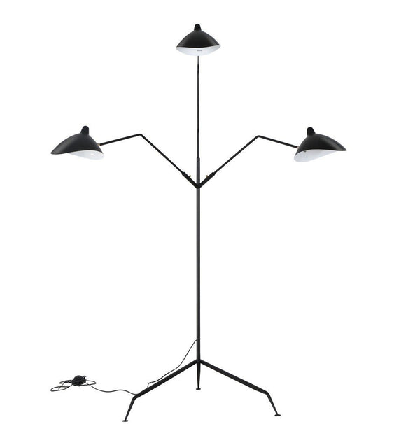 Reproduction of Serge Three-Arm Floor Lamp Standing Lamp-shopsabrinabitton.com