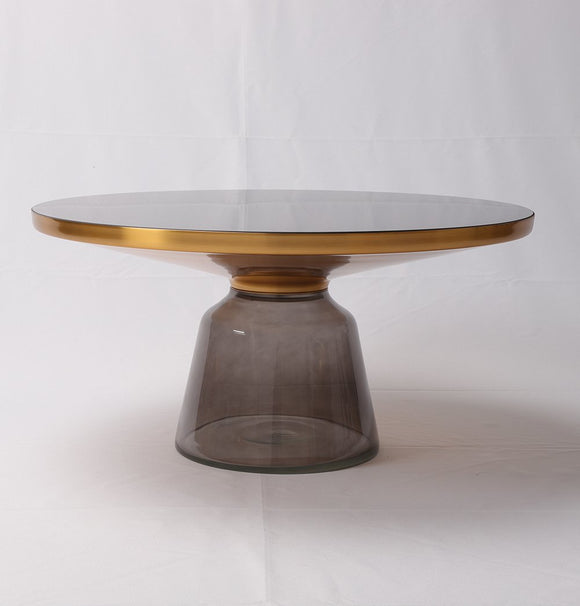 Karin Table Coffee Table hand blown glass bottom-shopsabrinabitton.com