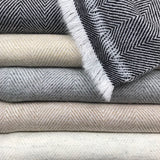 Moteki Herringbone Cashmere Throw