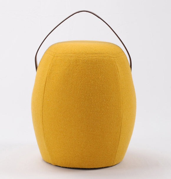 Moteki Kiley Handmade Pouf/Stool - Yellow