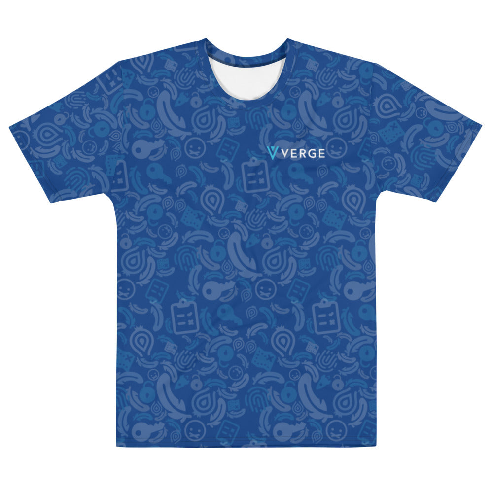 Verge Wallet all over T-shirt (Blue)
