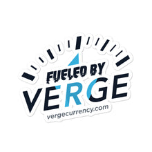 Load image into Gallery viewer, Fueled by Verge Sticker vergecurrency.myshopify.com