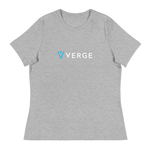 Women's Verge Currency Text Logo T-Shirt
