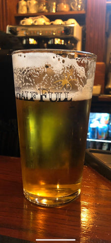 Half Full Pint Glass