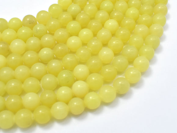 Lemon Jade, Round, 8mm beads