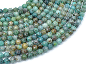 Chrysocolla-Natural , 6mm Round Beads