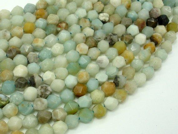 Amazonite Beads, 6mm Star Cut Faceted Round-BeadBeyond