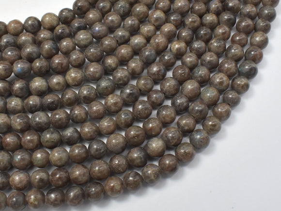 Chocolate Labradorite Beads, 6mm (6.4mm)