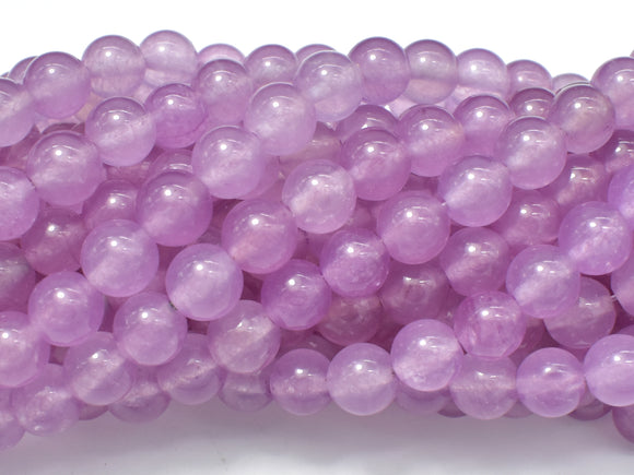 Jade Beads, Mauve, 8mm Round Beads-BeadBeyond