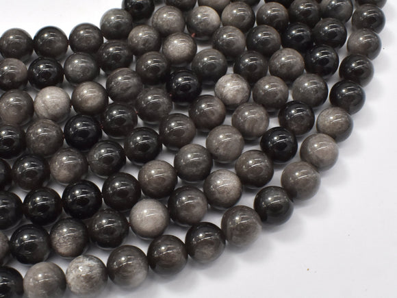 Silver Obsidian Beads, 8mm (8.4mm)-BeadBeyond