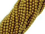 Hematite Beads-Gold, 4mm Round Beads-BeadBeyond