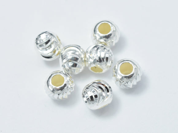 10pcs 6mm 925 Sterling Silver Beads, 6mm x 5.2mm Rondelle Beads-BeadBeyond