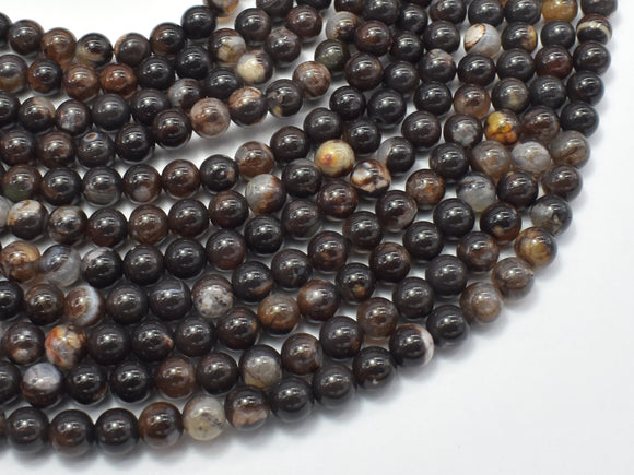 Brown Fire Agate, 6mm (6.3mm)-BeadBeyond