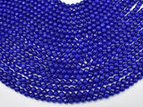 Jade Beads, Blue, 6mm Faceted Round