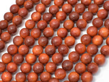 Dragon Blood Wood Beads, 6mm Round Beads, 25 Inch-BeadBeyond