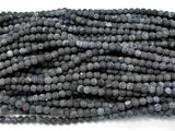 Frosted Matte Agate - Gray Black, 6 mm Round Beads-BeadBeyond