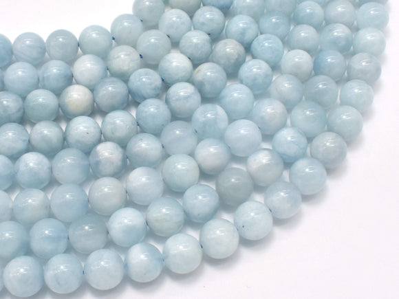 Genuine Aquamarine Beads, 8mm (8.5mm) Round