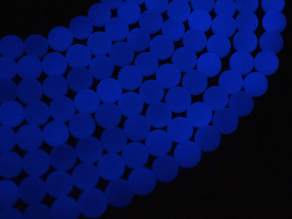 Grow in The Dark Beads-Blue, Luminous Stone, 6mm