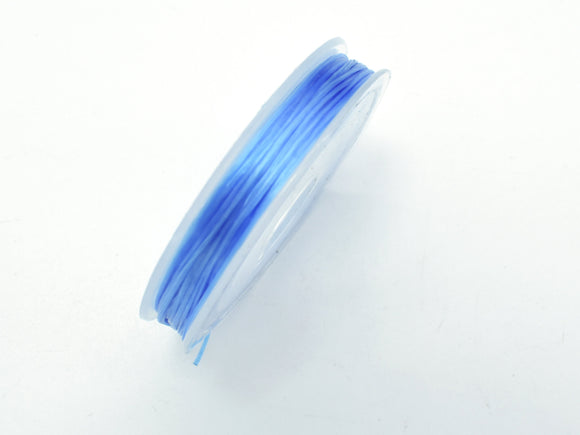 2Rolls Blue Stretch Elastic Beading Cord, 0.5mm, 2 Rolls-20 Meters