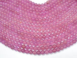 Jade Beads-Mauve, 8mm Round Beads