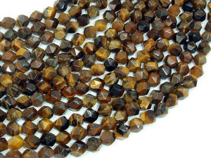 Tiger Eye, Round, 6mm, Star Cut Faceted Round