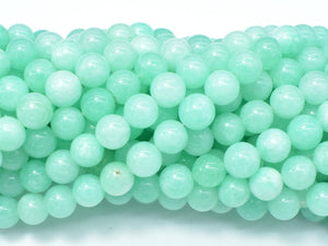 Jade Beads-Light Green, 8mm Round Beads-BeadBeyond