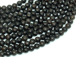 Astrophyllite Beads, 6mm(6.4mm) Round Beads