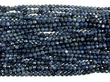 Blue Sapphire Beads, 3mm(3.5mm) Faceted Round, 15.5 Inch