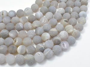 Druzy Agate Beads, Geode Beads, 10mm Round Beads-BeadBeyond