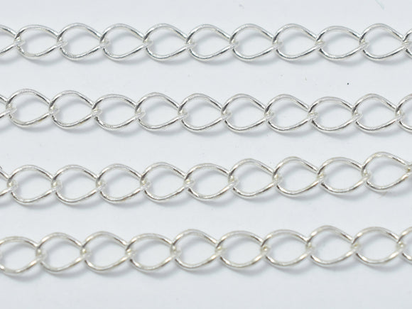 1foot 925 Sterling Silver Chain, Curb Chain, Jewellery Chain