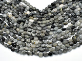 Hawk Eye Beads, Approx 6x8mm Nugget Beads-BeadBeyond