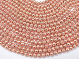 Lava-Copper Plated, 8mm (8.6mm) Round Beads