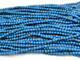 Turquoise Howlite Beads, Blue, 4mm Round Beads-BeadBeyond