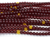 Blood Amber Resin, 8mm(5.8mm) Round Beads, 33 Inch, Approx 108 beads-BeadBeyond