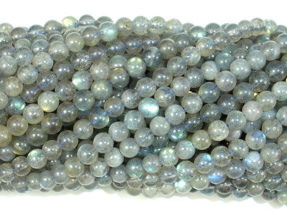 Labradorite Beads, 4mm (4.5 mm) Round Beads-BeadBeyond
