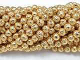 Lava-Gold Plated, 6mm (6.6mm)-BeadBeyond