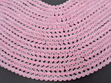 Matte Rose Quartz Beads, 6mm (6.5mm) Round beads-BeadBeyond