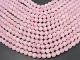 Matte Rose Quartz Beads, 8mm Round beads-BeadBeyond