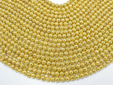 Lava-Gold Plated, 6mm (6.7mm) Round