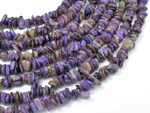 Charoite, 5mm-10mm Chips Beads, 15.5 Inch