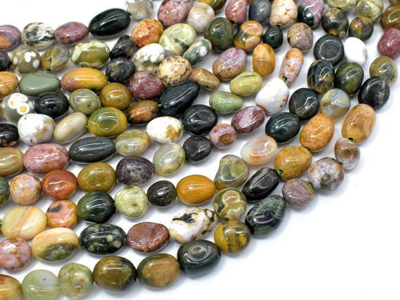 Ocean Jasper, Approx 6x8mm Nugget Beads-BeadBeyond