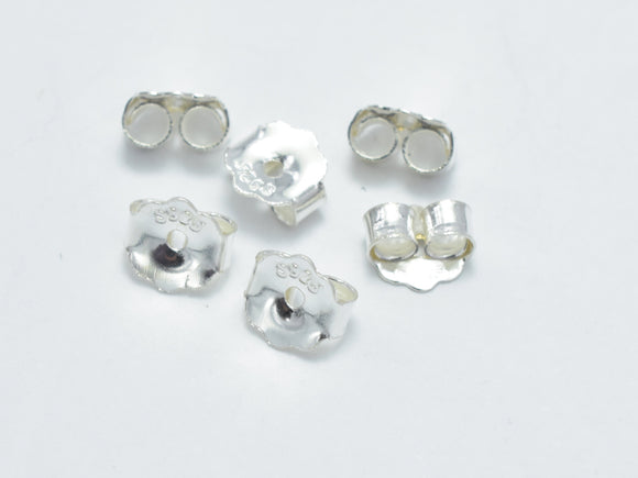 20pcs 925 Sterling Silver Ear Nuts, Butterfly Backings