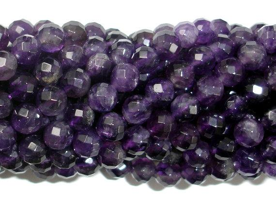 Amethyst, 6mm Faceted Round-BeadBeyond