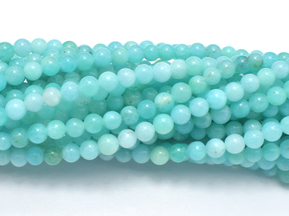 Russian Amazonite Beads, Green Amazonite, 4mm Round-BeadBeyond