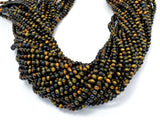 Blue / Yellow Tiger Eye, 4mm (4.3mm) Round Beads-BeadBeyond