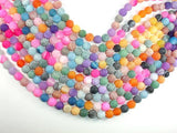 Frosted Matte Agate - Multi Color, 10 mm Round Beads
