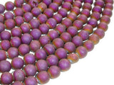 Druzy Agate Beads, Purple Geode Beads, 8mm (8.5 mm) Round Beads-BeadBeyond