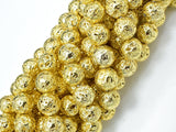 Lava-Gold Plated, 10mm (10.5mm) Round-BeadBeyond