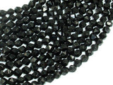 Black Onyx Beads, 6mm Star Cut Faceted Round, 14 Inch-BeadBeyond