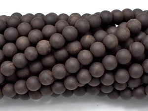 Matte Black Sandalwood Beads, 6mm(6.3mm) Round-BeadBeyond